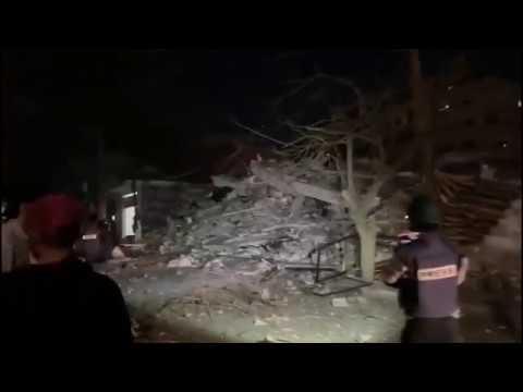 Le bureau de l'Agence #Anadolu frappé par les forces israéliennes dans la bande de #Gaza 04/05/19