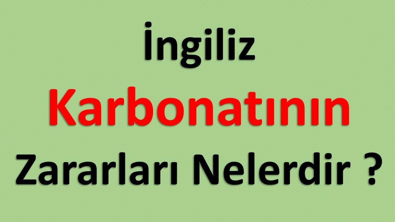 Karbonatın faydaları nelerdir
