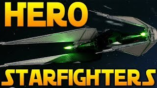 HERO STARFIGHTERS GAMEPLAY (New Game Mode) - Star Wars Battlefront 2