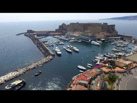 Castle in the port of Naples Italy