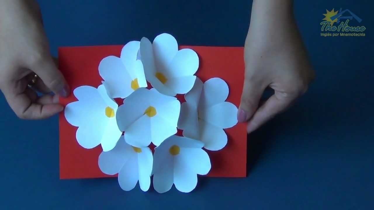 the house piracicaba  3d flower pop up card  youtube