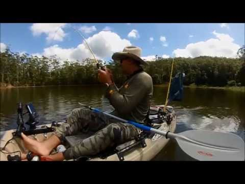 KAYAK FISHING TARGETING STOCKED AUSTRALIAN BASS 2015 Sunshine Coast Floods