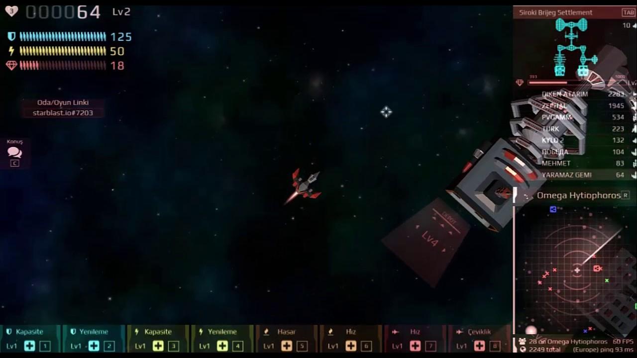 Starblast Io Minik Uzay Gemileri Starblast Io 1 Youtube