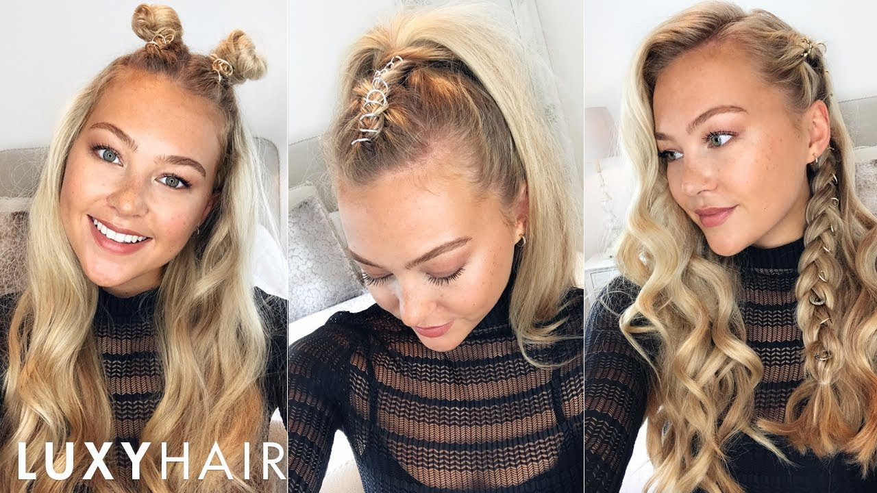 3 easy hairstyles using hair rings | halloween, festivals & more!