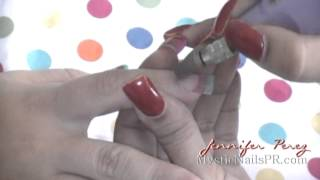 How to Seal Acrylic Nails Prevent Lifting :::... Jennifer Perez of Mystic Nails ☆