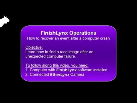 How to Recover an Unsaved FinishLynx Event After a Computer Crash