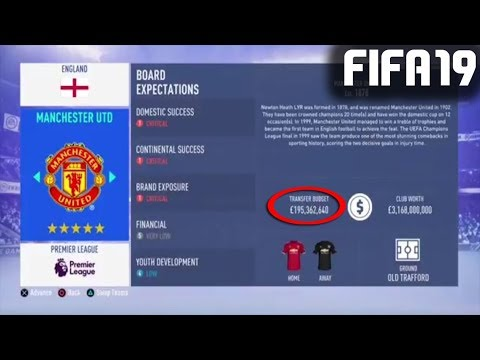 fifa 19 budgets des clubs en carriÈre manager youtube