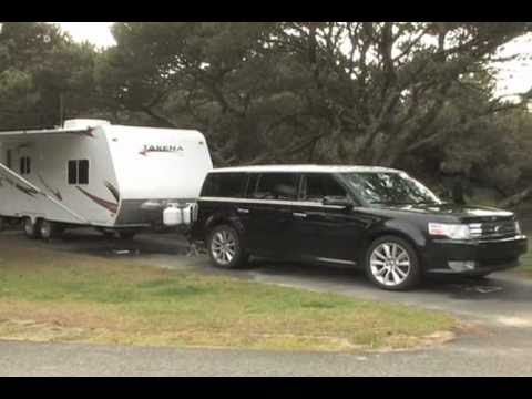 2010 Ford Flex Ecoboost Towing Capacity >> 2011 Takena Trailer And Ford Flex Youtube