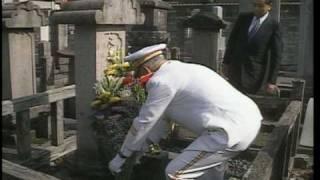 山本五十六元師の墓(新潟県長岡)に詣でる。田中角栄邸 田中家の墓参。