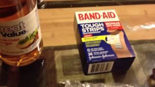 Dr scholl's wart remover vs. apple cider vinegar home remed