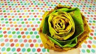 Роза из кленовых листьев | Мастер - класс | Осенний букет из листьев