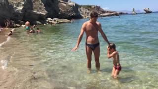 Отдых на о. Сицилия - купание на пляже Terasini(18.08.2016, Swimming at Terasini beach, Sicily., 2016-09-04T23:20:31.000Z)