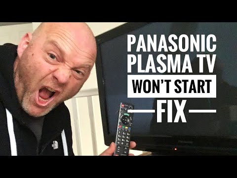 Panasonic Viera Plasma TV Won't Start - Solution And Fix - TXP42S20B - TV Remote Not Working