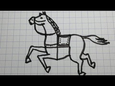 Hướng dẫn vẽ con ngựa đơn giản