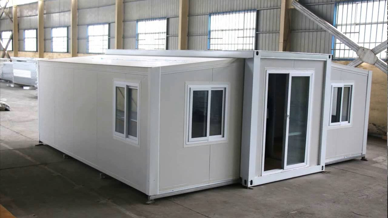 Installation of hebei baofeng 20ft expandable container for Expandable home designs