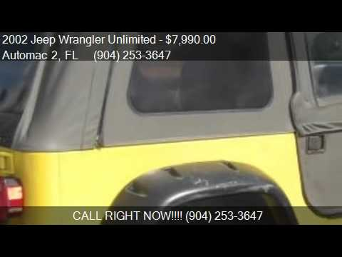 2002 jeep wrangler unlimited se for sale in jacksonville fl youtube. Black Bedroom Furniture Sets. Home Design Ideas