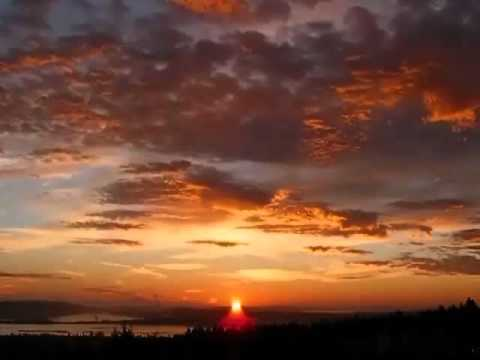 Sunrise over V.I.U. Nanaimo - Pachelbel's canon