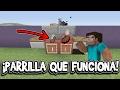 ¡Cómo HACER Una PARRILLA en Minecraft Que FUNCIONA! Minecraft xbox 360/ONE/PS3/PS4