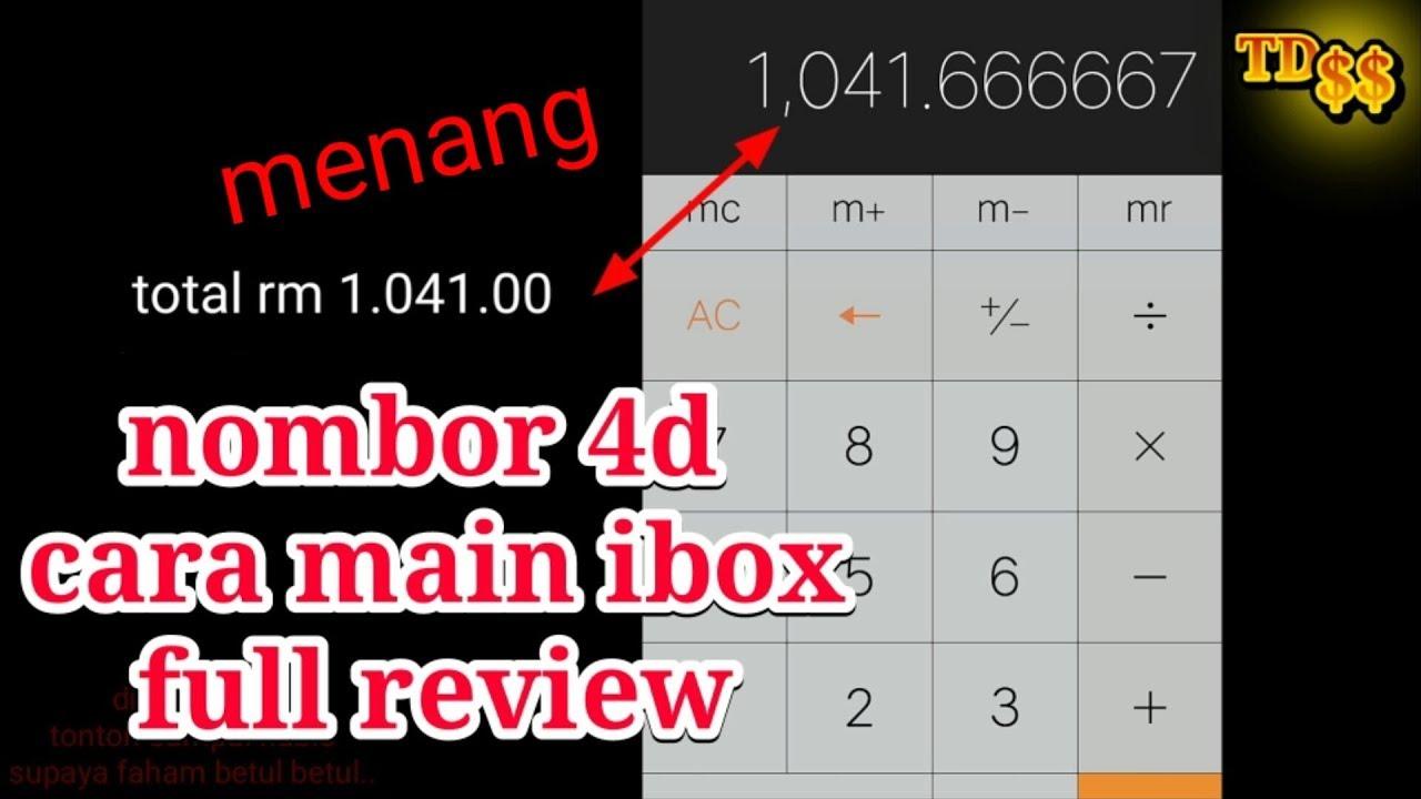 part 2- guna kalkulator untuk kira brapa RM dapat bila main ibox 4D