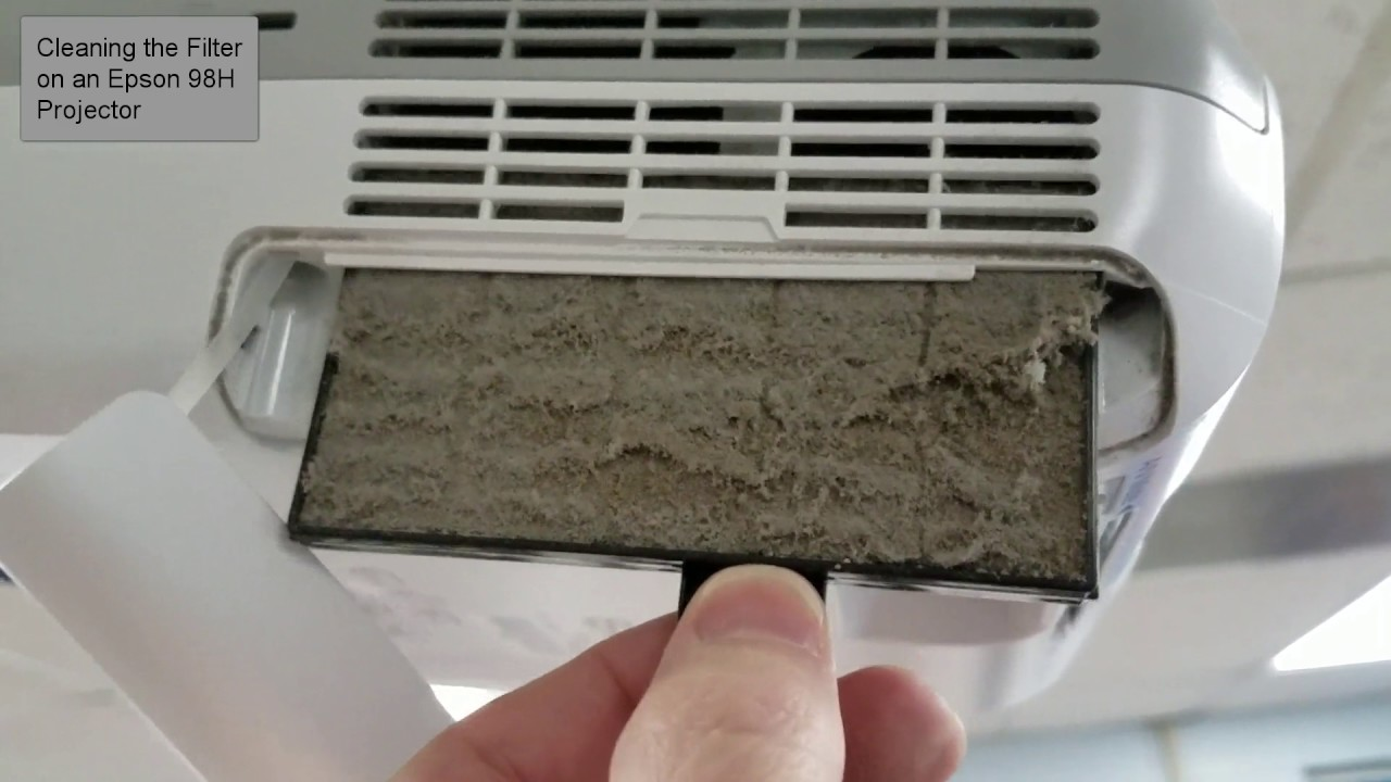 Clean The Filter On An Epson 98h Projector