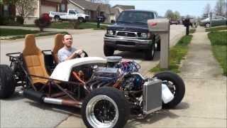 5.0 V8 Lotus Seven replica (locost) TEST DRIVE