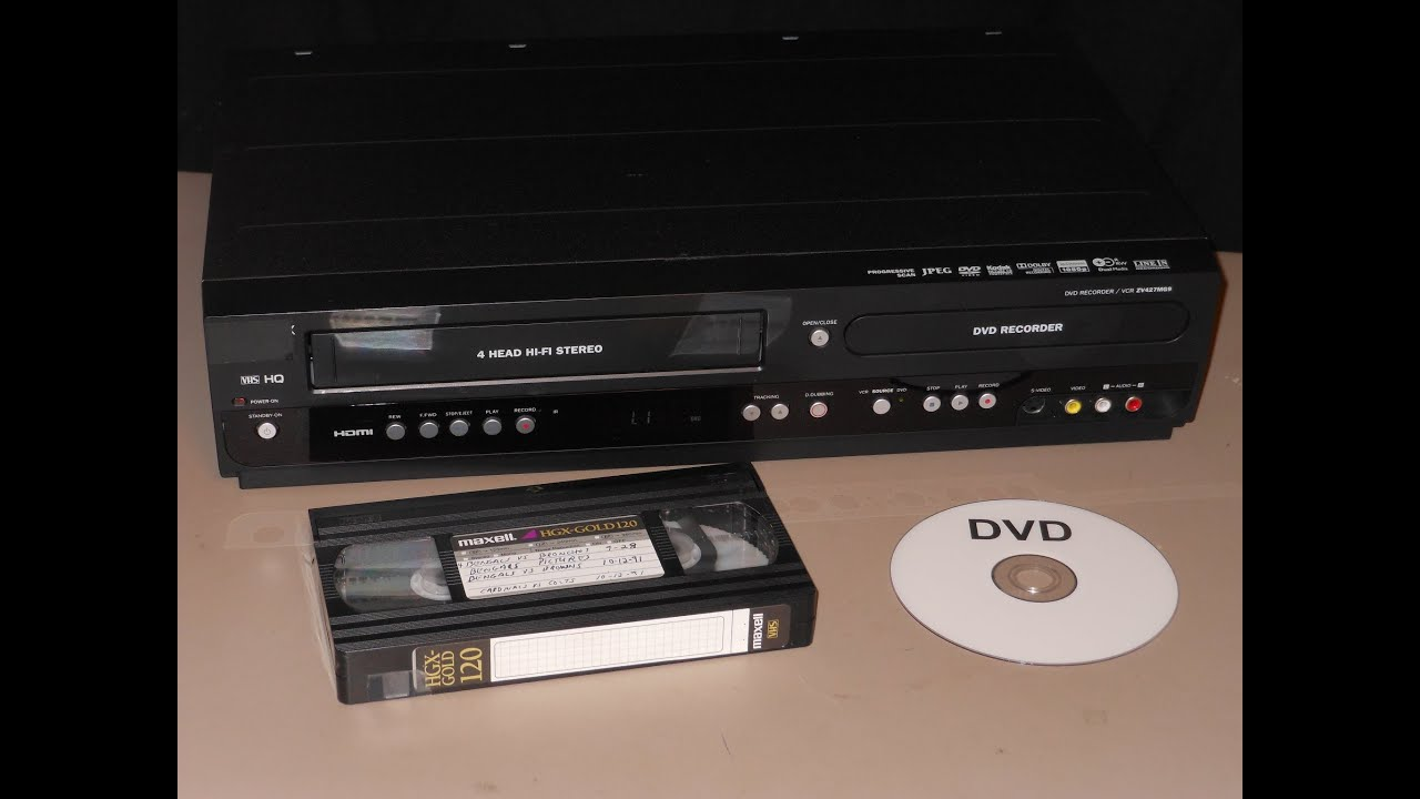 VHS transfer to DVD using combo recorder - YouTube