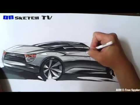 "온스케치 TV Car Sketch - ""AUDI E-Tron Spyder Sketch (Color Pencil+AD Marker)"""
