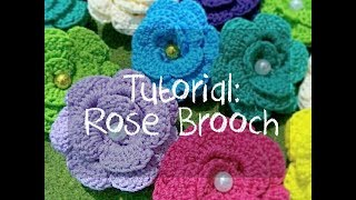 CROCHET   Tutorial Merajut untuk Pemula: Membuat Bros Bunga Rajut (Making a Rose Brooch)
