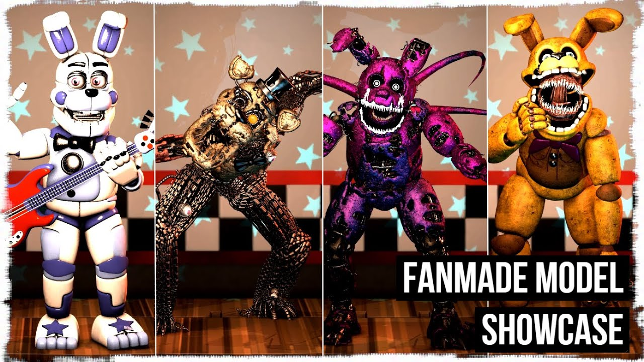 【C4D/FNAF/Animation】 Phantom Freddy voice.