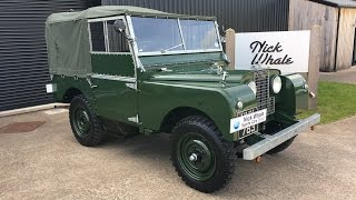 For Sale - 1952 LANDROVER DEFENDER SERIES 1 80