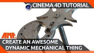 Cinema 4d Tutorial - Awesome Dynamic Mechanical Thing (geneva Drive Or Maltese Cross)