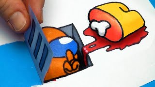 5 AMONG US Transformations ART & PAPER CRAFTS tutorial