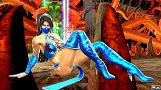 Kitana (Costume 1) Performs All Character Intros & Victory Celebrations on Soul Chamber (MKIX) PC