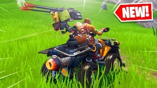 New MOUNTED TURRET MINIGUN in Fortnite.. 😂
