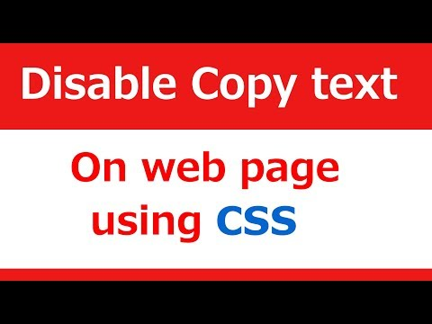 Disable Text Copy On Web Page Using Css | Web Zone