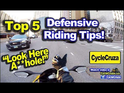 TOP 5 Defensive Motorcycle Riding Tips | MotoVlog