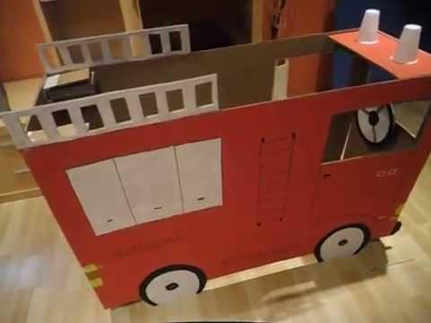 Manualidades camion de bomberos hecho de carton youtube - Manualidades en carton ...