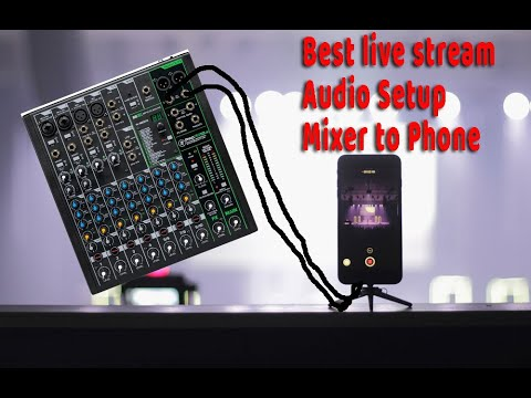 Live Stream Audio Setup Mixer To IPhone Or Android To Live Stream On Facebook Or Youtube Easy