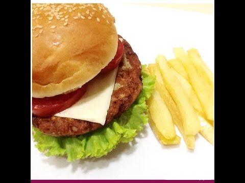 Crispy And Tasty Chicken Burger –  برگر مرغ
