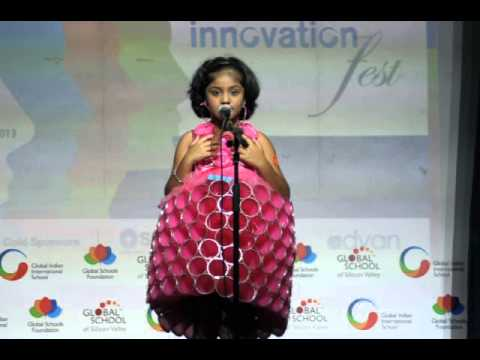 Aishu fancy dress competition youtube for Best out of waste topics