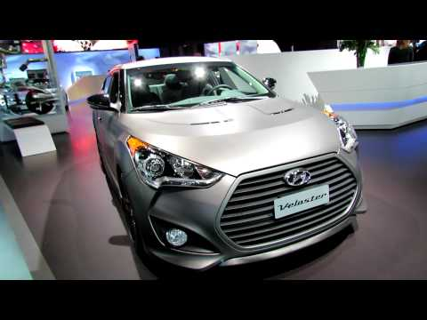 2013 Hyundai Veloster Turbo Exterior and Interior at 2012 New York International Auto Show