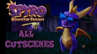Spyro The Dragon Remastered All Cutscenes (Spyro Reignited Trilogy)