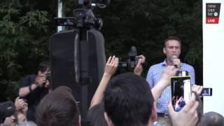 Алексей Навальный на митинге против пакета законов Яровой