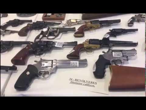 Incautado un centenar de armas a un vecino de Ponteareas