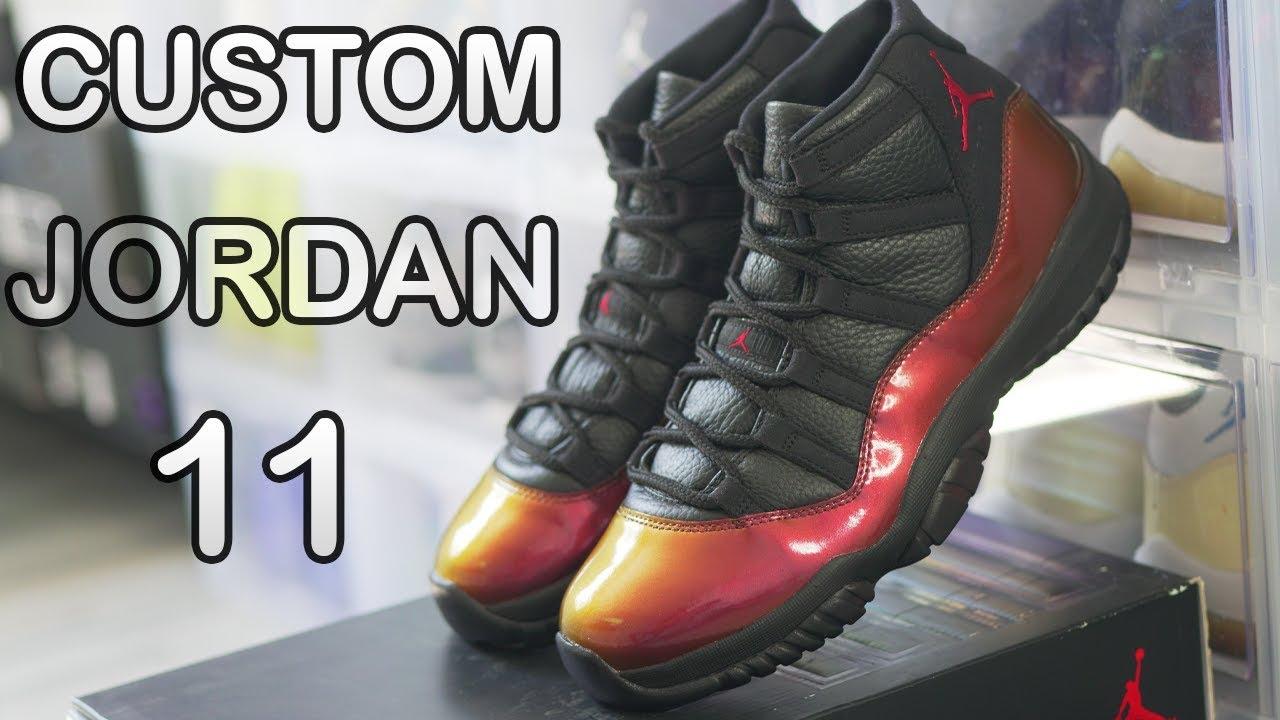 CUSTOM Jordan 11 Chameleon DIY (MIND