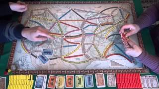 Ticket to Ride - играем в настольную игру, board game
