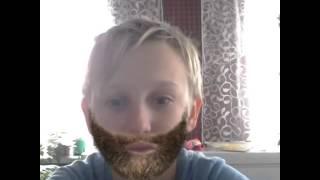 Грузин мерцает бороду в фотошопе