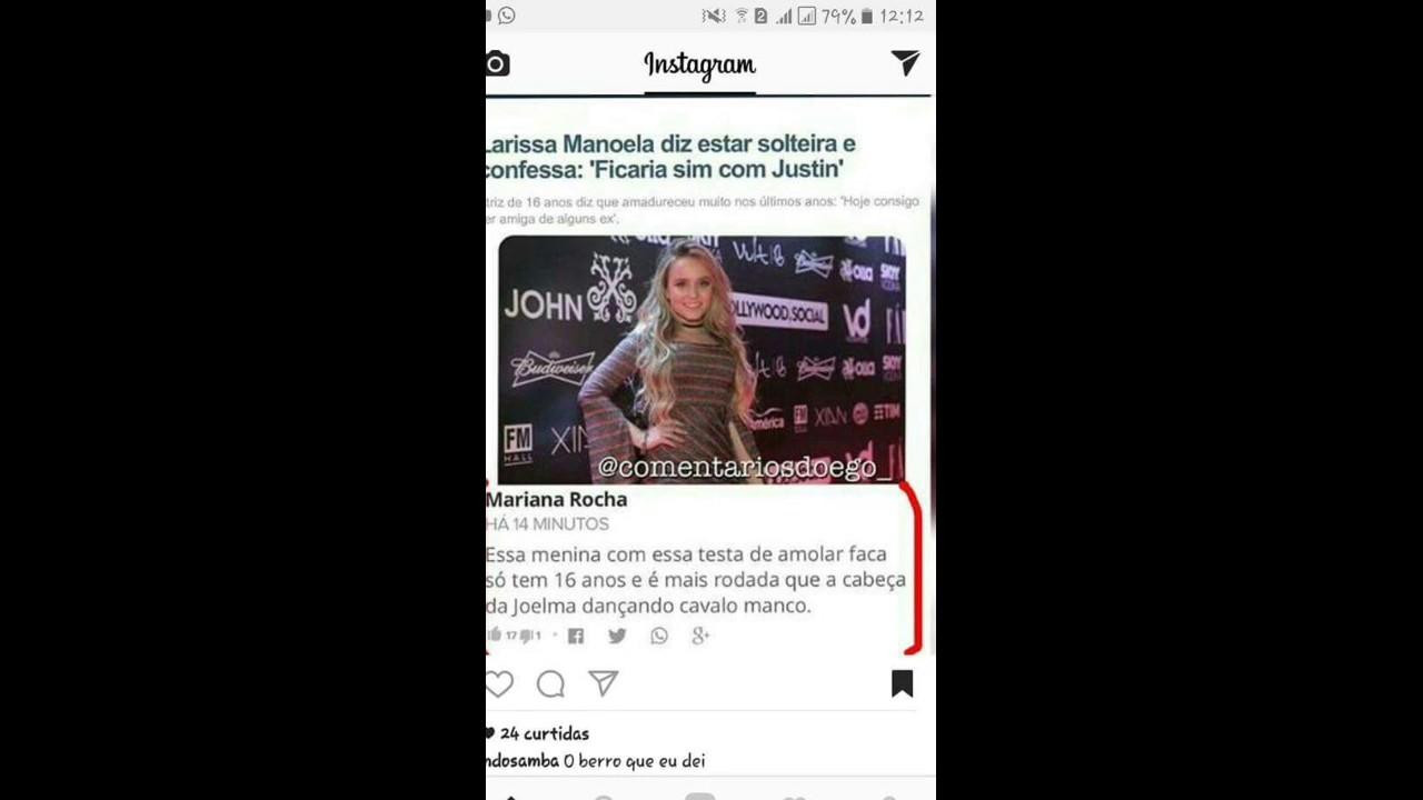 Larissa Manoela diz está solteira e confessa   ficaria sim com Justin . d9eceef790