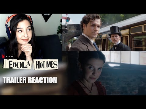 ENOLA HOLMES TRAILER REACTION (Netflix) w/MILLIE BOBBY BROWN & HENRY CAVILL!