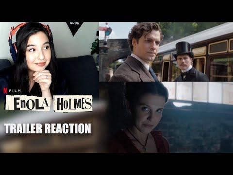 ENOLA HOLMES TRAILER REACTION (Netflix) w/MILLIE BOBBY BROWN & HENRY CAVILL!
